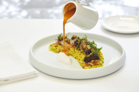 Grilled Octopus with Couscous