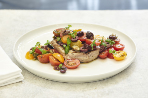 Sicilian Style Grilled Tuna Steak